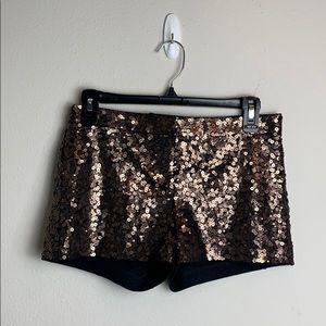 Express Sequin Mini Shorts